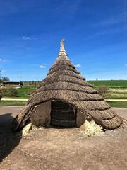 Frontal View - model of a 5000 year old straw hut (dksesh) Tags: seshadri dhanakoti harita menaka apple iphone salisbury wiltshire sesh seshfamily haritasya vilambisamvatsara appleiphone7 appleiphone iphone7 stonehenge