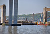 Crews Have Begun Removing Part Of The Middle Of The Old Tappan Zee Bridge On Tuesday May 8, 2018 Leaving A Large Gap In The Middle Of The Old Tappan Zee Bridge. The Section Of The Old Tappan Zee Bridge Was Placed On A Barge - 050818 (ses7) Tags: new tappan zee bridgeny construction phase continues
