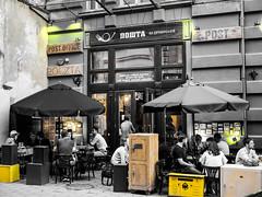 Lviv-178 (wichrzu_wichrzu) Tags: selective lviv streetphoto bw bwy poczta postoffice café