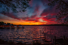 Brilliant start of the day (RJIPhotography) Tags: dawn minnetonka dock lake may sunrise clouds