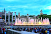 ...and the show begins (Fnikos) Tags: plaça plaza parc park parco tree nature montjuic montjuïc architecture column fountain fontaine fuente water colour color music light sky skyline city people night show nightshow nightview dusk evening outdoor