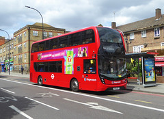 SLN 12376 - YX16OGP - A2 NEW CROSS ROAD - FRI 11TH MAY 2018 (Bexleybus) Tags: stagecoach london a2 new cross road adl dennis enviro 400 mmc hybrid tfl route nis not in service 12376 yx16ogp
