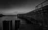 Helgoland - Slipanlage (Pana53) Tags: photographedbypana53 pana53 helgoland insel nordseeinsel island northsea schleswigholstein pinneberg himmel wolken langzeitbelichtung longexposure nikon nikond810 schwarzweisfotografie slipway abendstimmung wasser kai