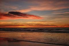 Sunrise Waikuku Beach (Maureen Pierre) Tags: cloudsstormssunsetssunrises sunrise colour sky cloud ocean sea sun reflection landscape xt2 fujifilm fuji