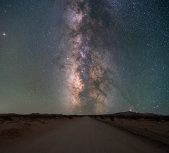 Mojave Milky Way Road (RyanLunaPhotography) Tags: easternsierra fuji fujifilm socal southerncalifornia whitney xt2 landscape night mojave road astrophotography milky way stars