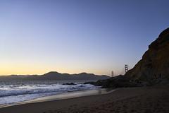 DSC03196 (manolosavi) Tags: california sanfrancisco bakerbeach outside nature sea beach sand sony alpha a7 a7ii sky sunset goldengate rocks zeiss batis 25mm