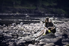 Friends (magdalena.stockdale) Tags: nature childphotography childrenphotography childhood children portraitphotography portrait stones rocks water countryside northumberland lambley riversouthtyne riverbank riverside river sisters friendship friends outside