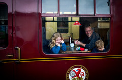Happy Families (Bone Setter) Tags: family happy severn valley railway bridgnorth steam locomotive carriage girl boy father