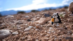 """Rocks. Rocks everywhere."" (RagingPhotography) Tags: lego star wars imperial galactic empire sand sandy desert rock rocks rocky mountain mountains sunny sun bright colorful cool pretty color outside outdoor outdoors sandtrooper trooper stormtrooper storm troop soldier weapon blaster pauldron backpack plastic toy toys minifigure minifig figure blue sky cloud clouds ragingphotography"