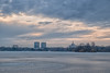 House of the Free Press and City Gate (Hattifnattar) Tags: sunset frozen bucharest citygate pentax dfa2470mm houseofthefreepress herastrau park