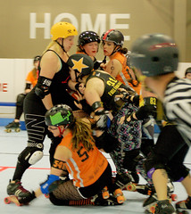 191 (Bawdy Czech) Tags: lcrd lava city roller dolls spit fires basin bombers bend or oregon april 2018 skate derby wftda flat track bout