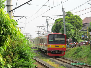 Comutter train passing kebayoran