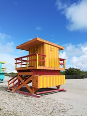 More colourful lifeguard booths.