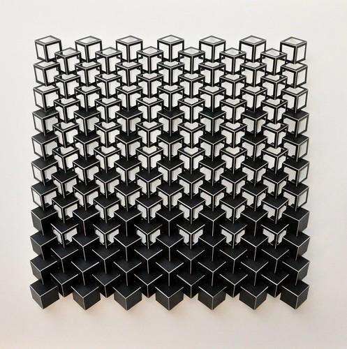 Herman Coppus papierrelief 70 x 70cm