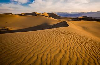 Mesquite Flat Sand Dunes Sunrise Gathering Clouds Thunderstorm! Death Valley National Park Fine Art Landscape  Photography! High Resolution California Desert Landscape Photos! Dr. Elliot McGucken High Res American West Landscape & Nature Fine Art!
