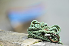 Mooring Rope (YellowSingle 单黄) Tags: mooring rope socoa harbor small boat ocean atlantic zokoa pays basque bokeh nikon d3