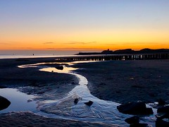 Back to the coast. .... (rienschrier) Tags: nature vlissingen zonsondergang strand river beach sunset