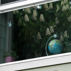 As The World Turns (prima seadiva) Tags: globe solar window