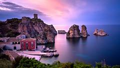 Tonnara di Scopello (Johann Glaes Photography) Tags: tonnara scopello castellammare golfo sunset sicily sicilia trapani palermo coucher soleil longue pose long exposure