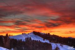 House on haunted hill (morbidtibor) Tags: switzerland schwellbrunn snow appenzell alps sunset