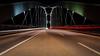 lines and curves - Linien und Kurven (ralfkai41) Tags: nacht night frankfurt architektur nightshot brücke city longtimeexposure lights bridge nachtfotografie osthafenbrücke architecture lichter langzeitbelichtung stadt strasse road street