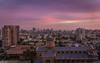 Comienzan a llegar las nubes... (Eugercios) Tags: santiago santiagodechile chile purple sunset atardecer morado violet violeta dome cupula skyline skyscrapers sky cityscape ciudad city cidade america hispanoamerica southamerica sudamerica cielo