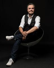 Portrait of Manuel (Thom O.) Tags: ifttt 500px studio photography portrait portraits style sitting man smile dark background