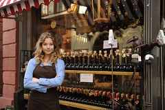 Store owner in front of shop Entrepreneur Business Marketing - Credit to https://electrosawhq.com/ (ElectroSawHQ) Tags: owner store shop retail business small clerk sales employee entrepreneur selfemployed retailer woman occupation storefront assistant lifestyle confident young adult job looking female horizontal profession proud people work caucasian happy smile portrait person workplace grocery beverage alcohol bottle liquor blond camera standing working pride proprietor apron one outside outdoors