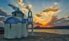 Agios Nikolaos Perama (HDR) (panos_adgr) Tags: nikon d7200 perama greece attica sunset seascape horizon sea clouds water sky colours sun blue orange hdr
