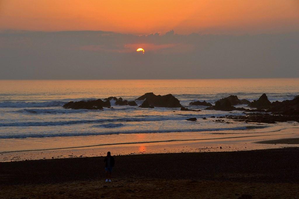 Sunset Crooklets Beach, Bude.  Nikon D3100. DSC_0982.