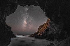 Epic Malibu Milky Way Sea Cave Fine Art Landscape Seascape Photography! Long Exposure California Starry Night Photos.  High ISO Nikon D810 AF-S NIKKOR 14-24mm F2.8G ED Nikon Elliot McGucken Fine Art Photography! (45SURF Hero's Odyssey Mythology Landscapes & Godde) Tags: epic milky way sea cave fine art landscape seascape photography long exposure california starry night photos high iso nikon d810 afs nikkor 1424mm f28g ed elliot mcgucken ocean beach malibu the milkyway galaxy