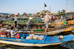 Floating Market; Can Tho, Mekong Delta (Valdas Photo Trip) Tags: vietnam can tho mekong river delta floating market