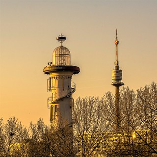 The lighthouse on the Danube island
