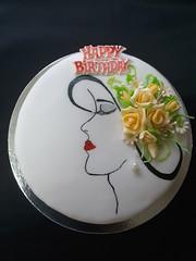 Birthday Cake (preeni sri lanka) Tags: fondant cake birthday birthdaycakecoveredwithfondant priyanthi birthdaycake preeni lady fondanticing