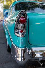 1956 Chevrolet Bel Air (Photos By Clark) Tags: california canon2470 unitedstates location northamerica canon5div locale places where escondido us chevrolet chevy 2tone classic restored tail light