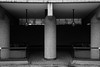 Upper Frobisher Crescent (cybertect) Tags: carlzeisstessart45mmf28 chamberlinpowellandbon cityoflondon ec2 london londonec2 modernism sonya7ii thebarbican upperfrobishercrescent architecture blackwhite blackandwhite building column concrete monochrome