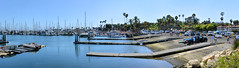 Boat Launch and Marina (joe Lach) Tags: california santabarbara boatlaunch boatdock boatramp boats marina palmtrees bay pacificocean panoramic panorama joelach westbeach