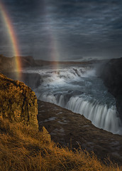 tears in heaven (marion faria) Tags: iceland gullfoss waterfall rainbow sunrise landscape mist mood