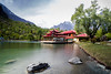Shangrilla (saadali88) Tags: shangrilla skardu pakistan lake longexposure red colors sky landscape landscapephotography trees nature stones water clouds naturelover beauty travelphotography north gilgitbaltistan architecture vacation resort reflection