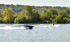 Water skiing near Marlow (philbarnes4) Tags: marlow buckinghamshire england nikond5500 philbarnes waterskiing lake waterski speedboat speed tow