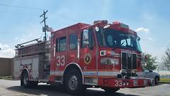 Engine 33 (Central Ohio Emergency Response) Tags: columbus ohio fire division truck working scene engine pumper sutphen