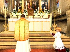 Mass for the Feast of the Ascension (Archdiocese of Lepanto) Tags: firestormsecondlife chuch slchurch catholic slcatholic lepanto archdioceseoflepanto materdolorosa ascension feastoftheascension mass secondlife:region=rothkosecondlifeparcelcatholicchurcharchdioceseoflepantomaterdolorosachurchsecondlifex52secondlifey12secondlifez27