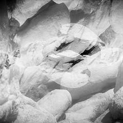 Monzo (colinpoe) Tags: blackandwhite rolleiflex mediumformat 6x6 abstract joshuatree erosion delta100 ilforddelta100 joshuatreenationalpark granite rolleiflexautomat geology tlr rolleiflexautomatk4a doubleexposure desert bw monzogranite iflordfilm 120 abstractlandscape landscape