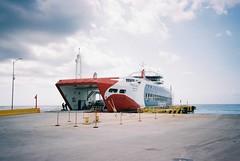 Cozumel (cranjam) Tags: ricoh gr1 gr1v film kodak portra160 mexico messico yucatán transcaribe ferry traghetto cozumel pier molo