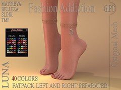 LUNA ANKLET GIFT (Owner Fashion Addiction) Tags: fashionaddiction maitreya slink belleza tmp secondlife hourglass venus isis freya physique shoes anklets gift