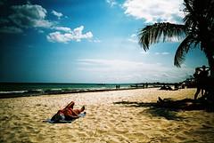 Tulum (cranjam) Tags: lomo lca lomography film slide xpro expired kodak elitechrome100 mexico messico yucatán quintanario beach spiaggia tulum caribbeansea marcaraibico sea mare palme palmtrees