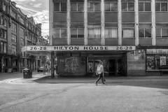 Hilton House, Manchester (dlsmith) Tags: blackwhite bw monochrome monochromatic hdr photomatix manchester mcr northernquarter nq hilton house