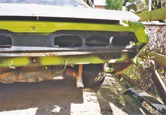 383 challenger being stripped after i decided to restore to factory spec (Rickster G) Tags: brochure flyer literature sales ads dealer mopar dodge challenger muscle car ta rt se sixpack rallye 383 440 426 hemi scatpack 1970 1971 1972 1973 ebody chally 70s