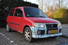 2000 Daihatsu Cuore (+ Stickers!) (Vinylone AFS) Tags: 2000daihatsucuorestickers carwithstickers decorated stickerart sticker sexystickers girl girls