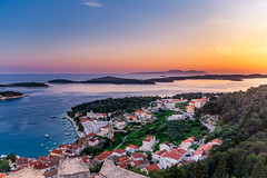Sunset in the Hvar (Wolfhowl) Tags: spring oldtown landscape sunset adriaticsea sailing bay shore hvartown cityscape croatia islands town dusk marina sun adriatic city yacht hvar travel boats yachts island architecture seascape harbor europe yachting sea